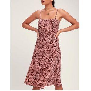 Lulu's Pink Leopard Print Dress